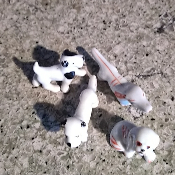 Other - Miniature Vintage Mid-century Dogs Lot of …
